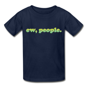 """Ew People"" Gildan Ultra Cotton Youth T-Shirt - navy"