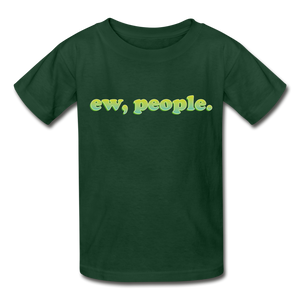 """Ew People"" Gildan Ultra Cotton Youth T-Shirt - forest green"