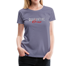 "Load image into Gallery viewer, ""Quarantine and Chill"" Women's Premium T-Shirt - washed violet"