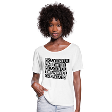 Load image into Gallery viewer, PFPT Women's Flowy T-Shirt - white