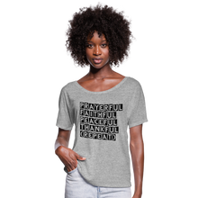 Load image into Gallery viewer, PFPT Women's Flowy T-Shirt - heather gray