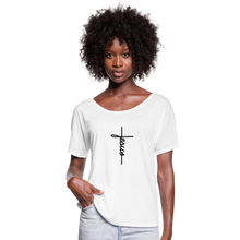 Load image into Gallery viewer, Signature Jesus Women's Flowy T-Shirt - white