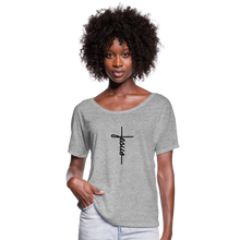 Load image into Gallery viewer, Signature Jesus Women's Flowy T-Shirt - heather gray