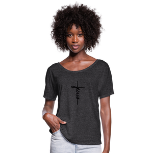 Signature Jesus Women's Flowy T-Shirt - charcoal gray
