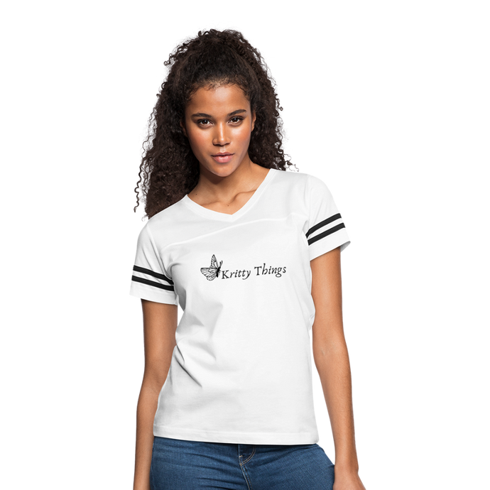 Women's Vintage Sport T-Shirt - white/black