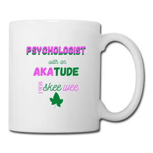 """AKAtude_Psychologist"" Coffee/Tea Mug - white"