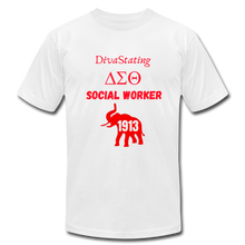 "Load image into Gallery viewer, ""DivaStating_Social Worker"" Jersey T-Shirt by Bella + Canvas - white"