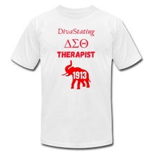 "Load image into Gallery viewer, ""DivaStating_Therapist"" Unisex Jersey T-Shirt by Bella + Canvas - white"