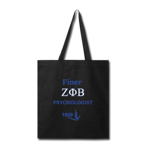 """FINER ZETA_Psychologist"" Tote Bag - black"