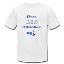 "Load image into Gallery viewer, ""FINER ZETA_Psychologist"" Unisex Jersey T-Shirt by Bella + Canvas - white"