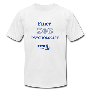 """FINER ZETA_Psychologist"" Unisex Jersey T-Shirt by Bella + Canvas - white"