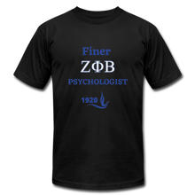 "Load image into Gallery viewer, ""FINER ZETA_Psychologist"" Unisex Jersey T-Shirt by Bella + Canvas - black"