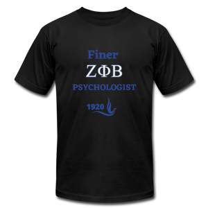"""FINER ZETA_Psychologist"" Unisex Jersey T-Shirt by Bella + Canvas - black"