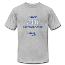"Load image into Gallery viewer, ""FINER ZETA_Psychologist"" Unisex Jersey T-Shirt by Bella + Canvas - heather gray"