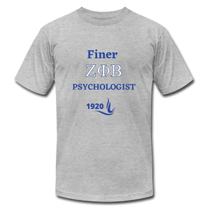 """FINER ZETA_Psychologist"" Unisex Jersey T-Shirt by Bella + Canvas - heather gray"