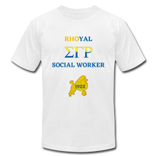 "Load image into Gallery viewer, ""Rhoyal_Social Worker Jersey T-Shirt by Bella + Canvas - white"