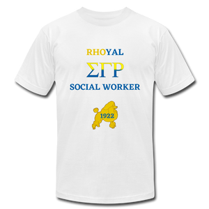 """Rhoyal_Social Worker Jersey T-Shirt by Bella + Canvas - white"