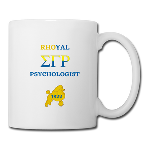"""Rhoyal_Psychologist"" Coffee/Tea Mug - white"