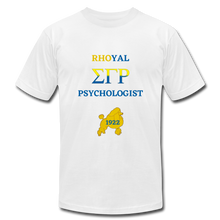 "Load image into Gallery viewer, ""Rhoyal_Psychologist""  Jersey T-Shirt by Bella + Canvas - white"