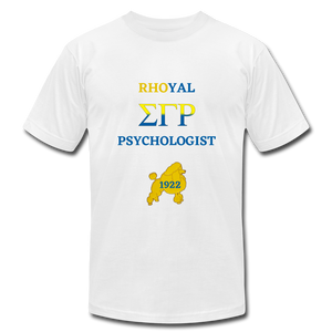 """Rhoyal_Psychologist""  Jersey T-Shirt by Bella + Canvas - white"