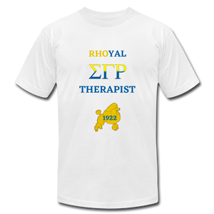 """Rhoyal_Therapist"" Jersey T-Shirt by Bella + Canvas - white"