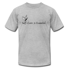 "Load image into Gallery viewer, ""Self Care is Essential"" Jersey T-Shirt by Bella + Canvas - heather gray"