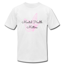 "Load image into Gallery viewer, ""Mental Health Matters"" Jersey T-Shirt by Bella + Canvas - white"