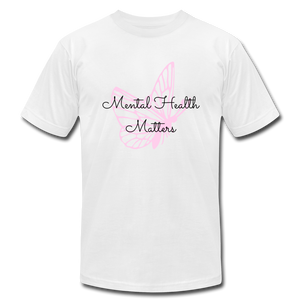 """Mental Health Matters"" Jersey T-Shirt by Bella + Canvas - white"