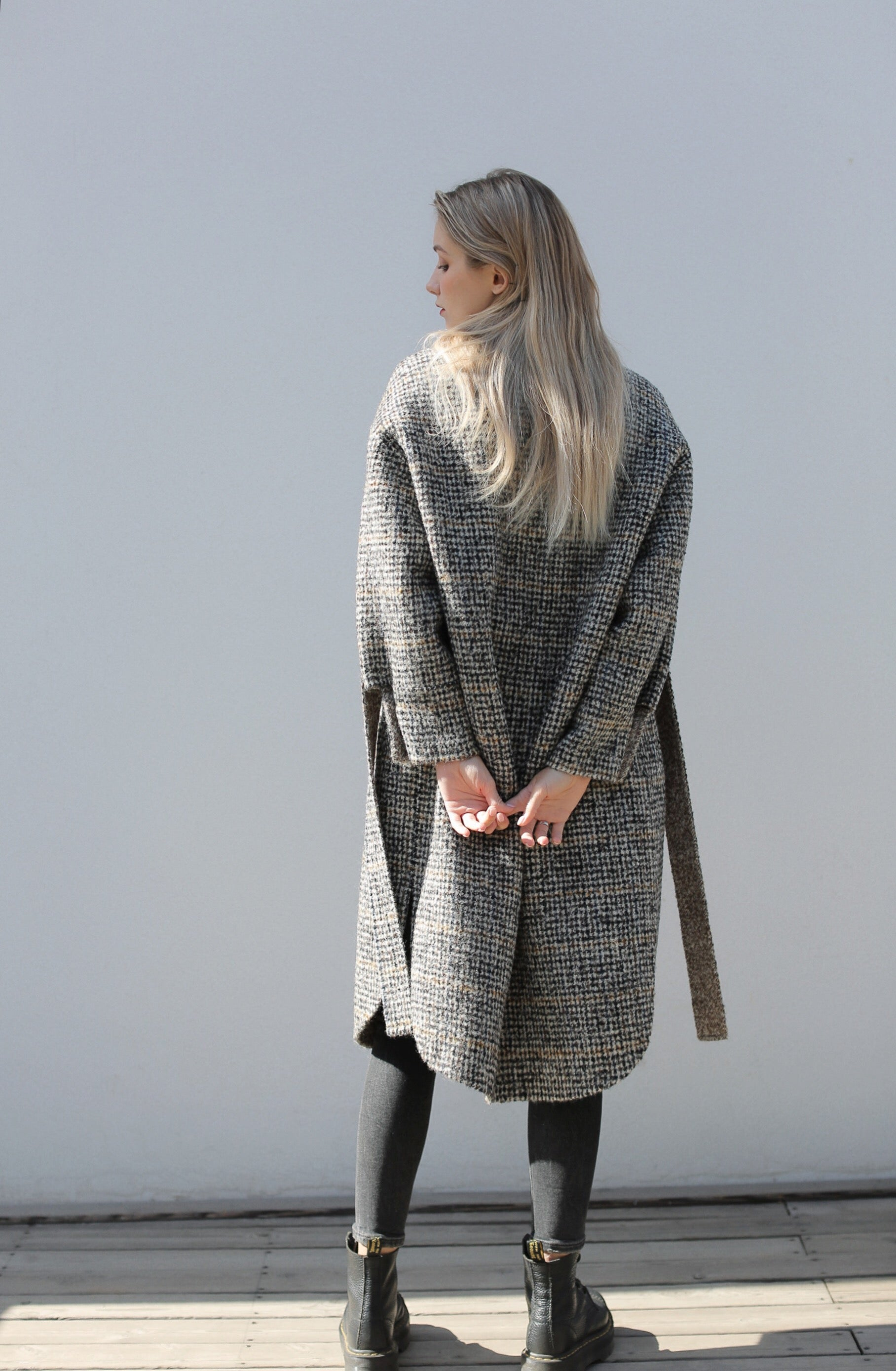 【Simplicity】Grey Wool Cocoon Coat