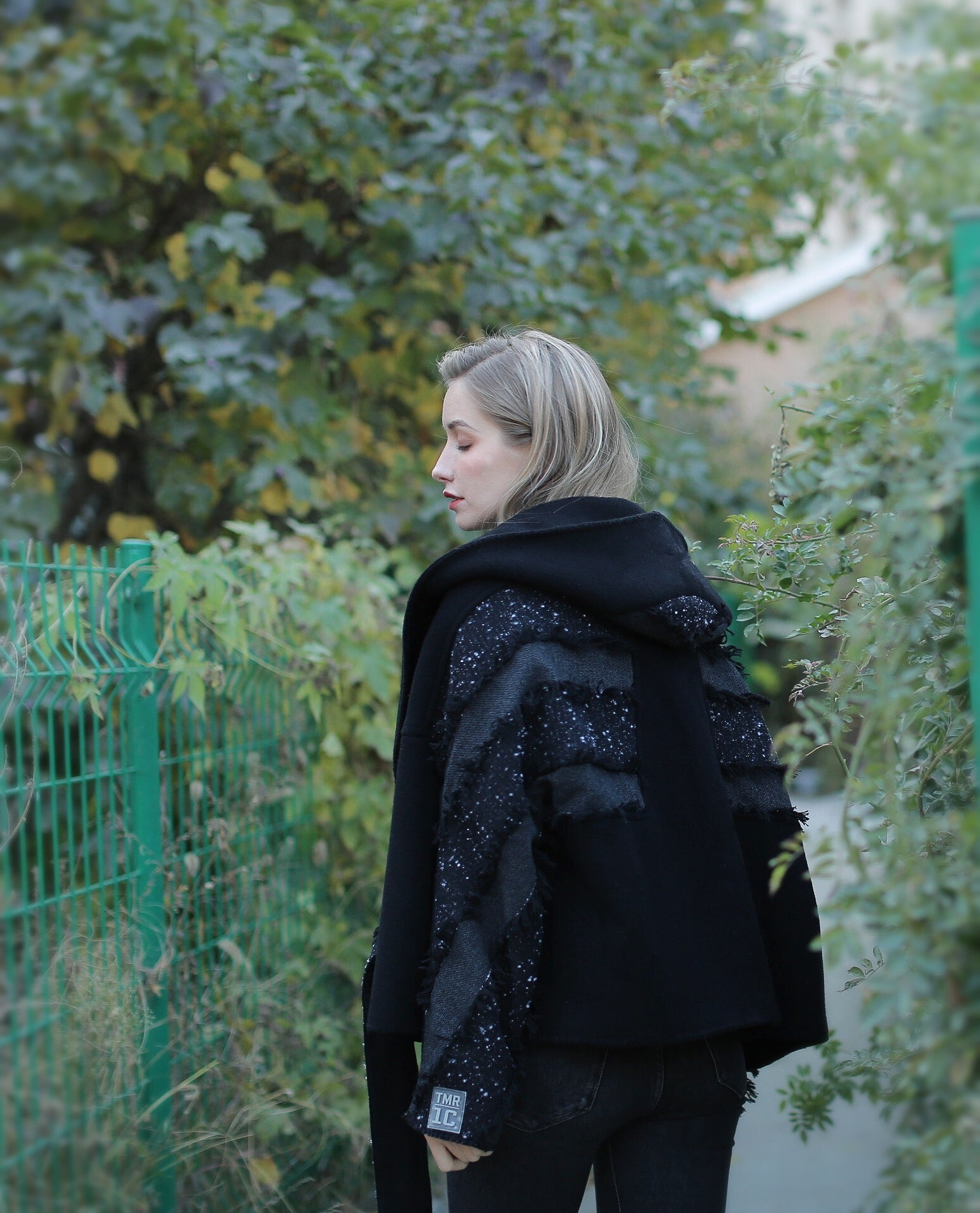 【End Of Maze】Black Wool Oversized Attaching Jacket