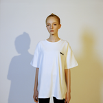 【Circulation】White Logo Oversized T-shirt
