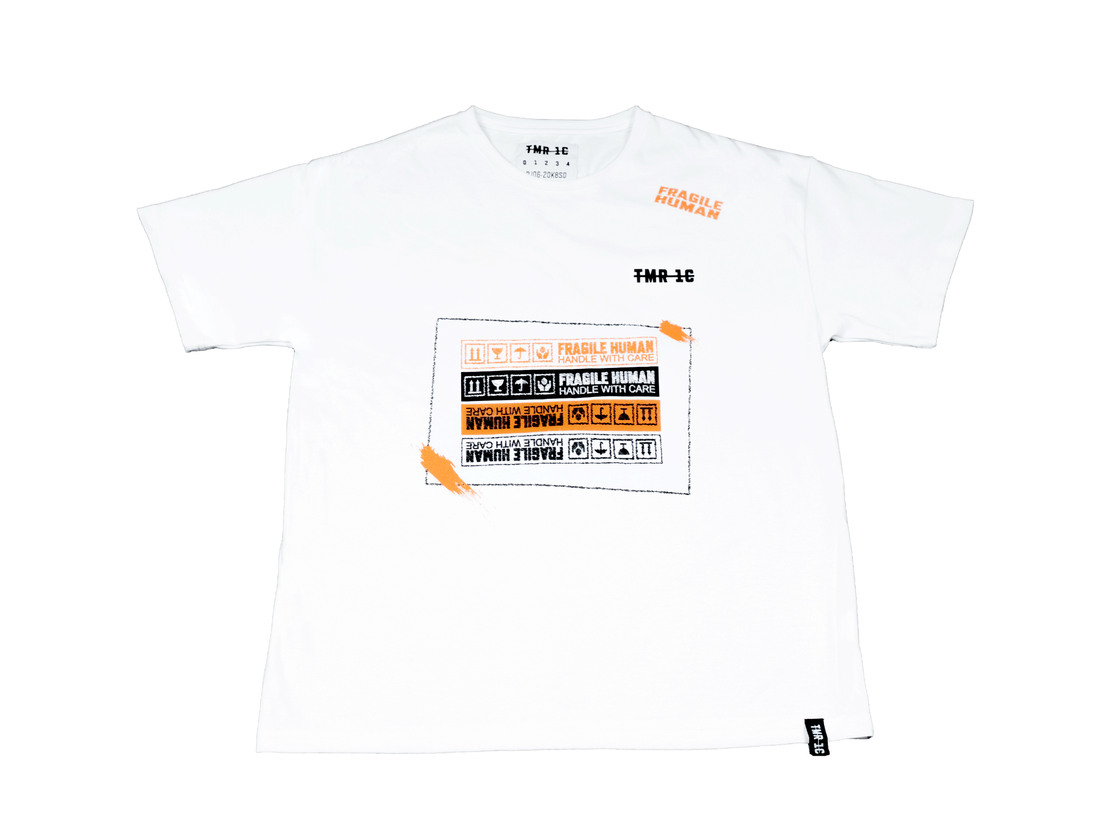 "【Circulation】""Ugly Fragile Human"" Oversized T-shirt 
