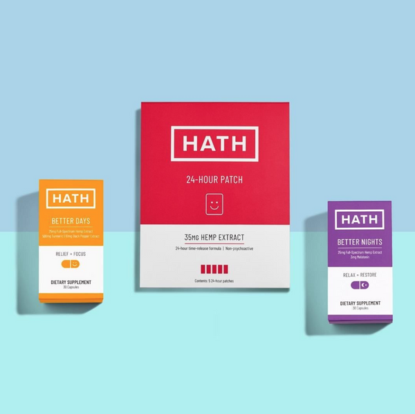 HATH CBD Products Flat Lay