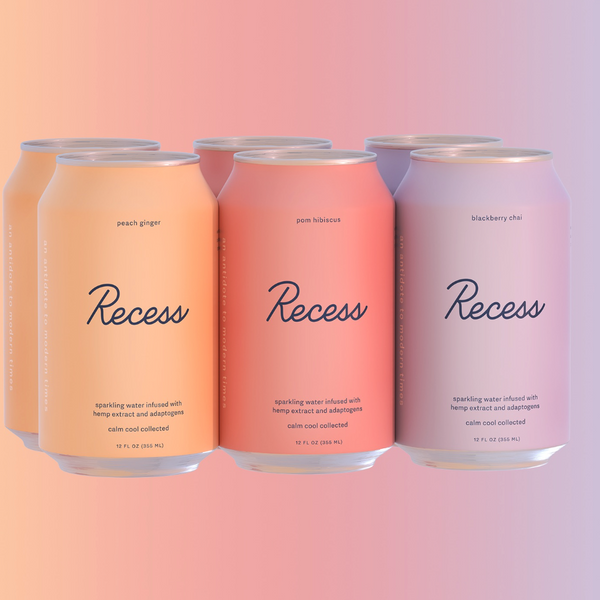 Recess sparkling CBD beverages