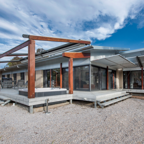 Exterior of the Mudgee Hempcrete House in Australia