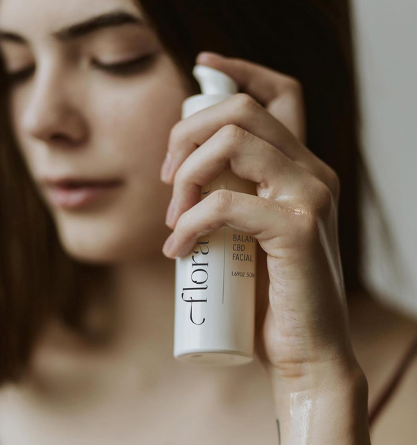 How to Use a Gua Sha Stone and a Balancing Facial Oil with Floramye CBD