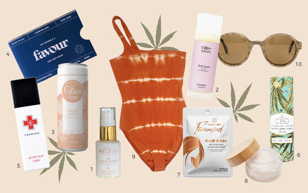 Hemp and CBD product summer essentials