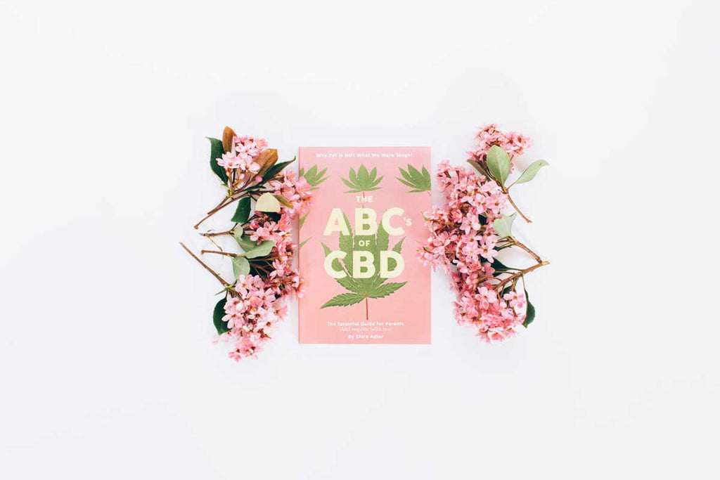 ABC's of CBD book with pink flowers