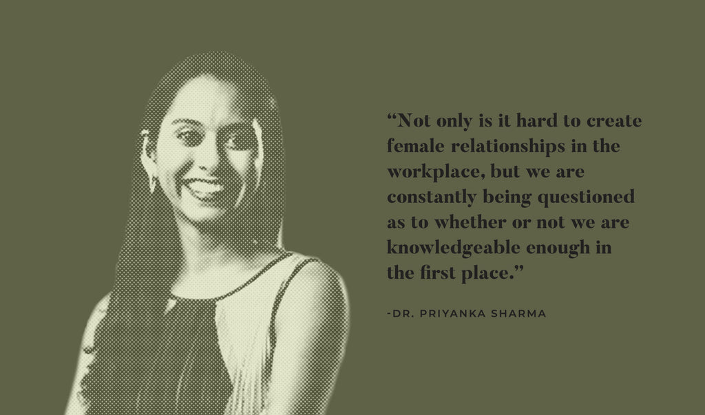 Co-founder of Kazmira Dr. Priyanka Sharma headshot with quote
