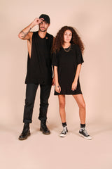 Bad Decision Adventure Club guy and girl models wearing hemp clothing