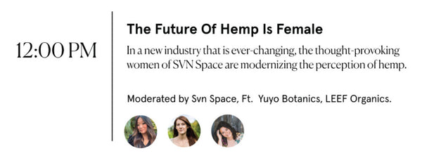 Lineup of speakers on Future of Hemp is Female panel at FounderMade