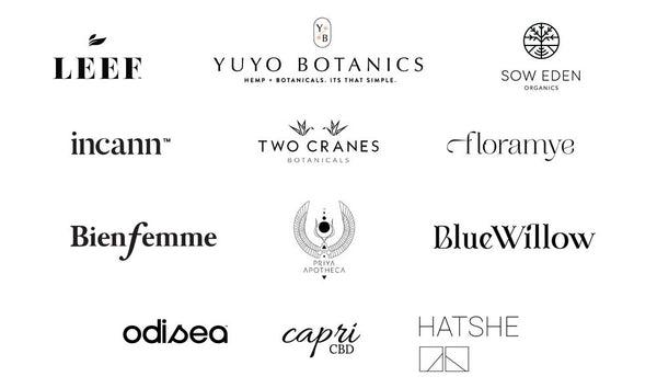 Brand logos participating in Svn Space booth at FounderMade show