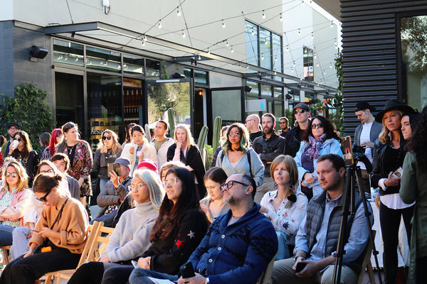 Crowd at CBD panel discussion Svn Space Hempanna Platform Los Angeles Event