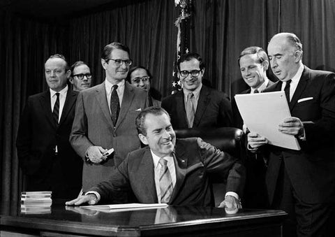 President Richard Nixon signing the Controlled Substances Act
