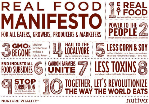 Nutiva's Real Food Manifesto