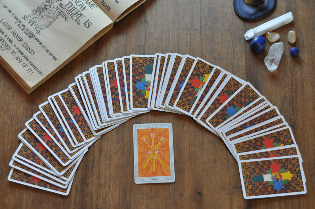 Taro Cards laid out in a fan