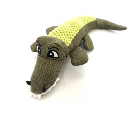 Sancho & Lola's Hemp Pet Aligator Toy
