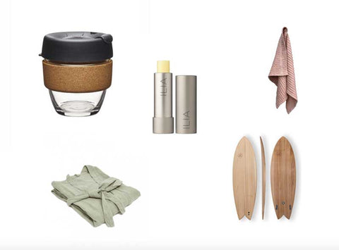 Collage of products sold on Ecolabo's sustainable webshop