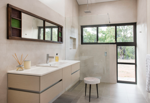 Mudgee Hempcrete House bathroom