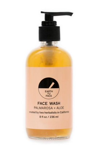 Earth Tu Face face wash bottle made with hemp seed oil